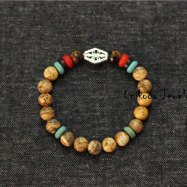 Натуральный камень мужской браслеты, Серебро 925 акссесуары браслеты очаровывает мужчин браслет людей