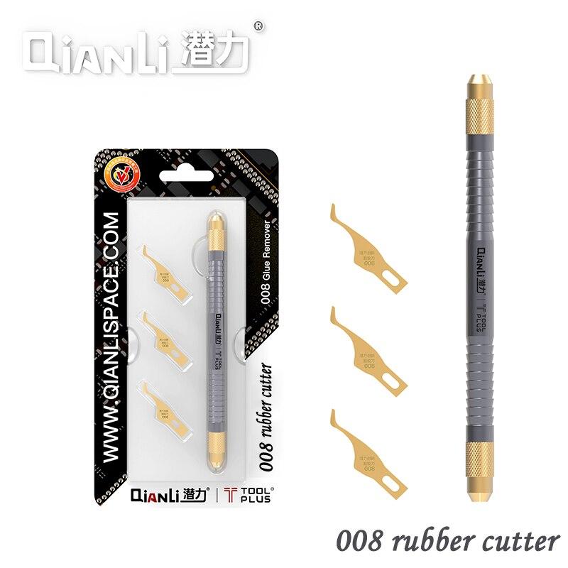 QIANLI 008 obcinak do gumy ręczne szlifowanie podważ nóż do procesora układ scalony konserwacja płyty głównej demontaż gumowego narzędzia|Zestawy elektronarzędzi|   -