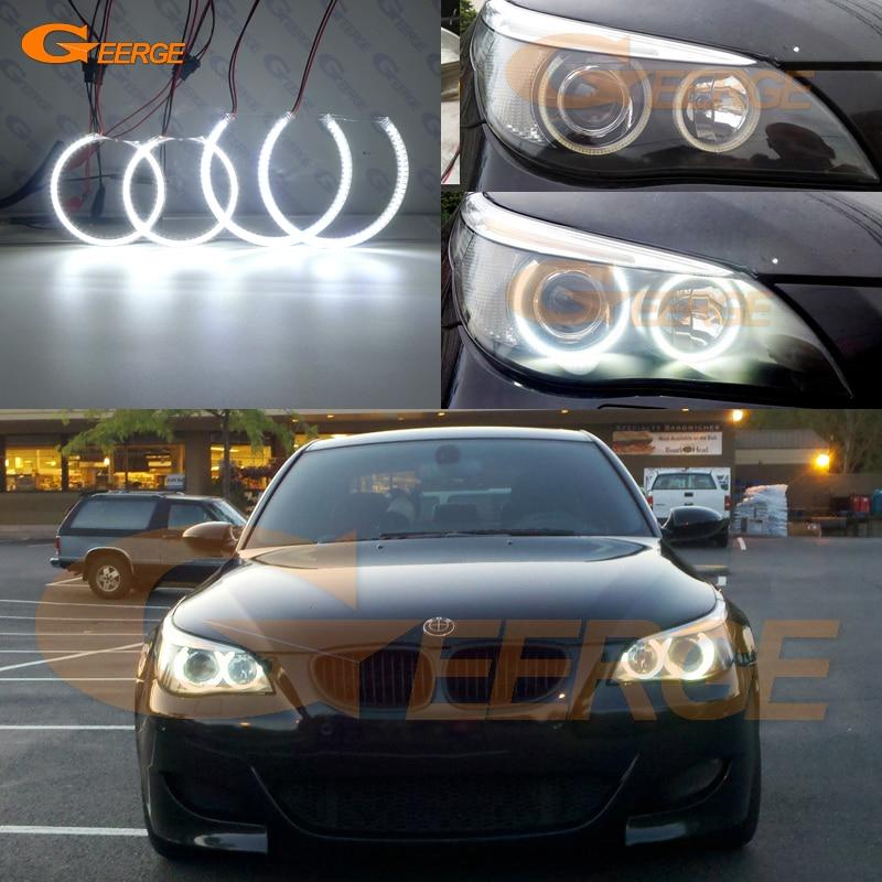 Για την BMW E60 E61 525I 530I 540I 545I 550I M5 2003-2007 Φωτισμός Xenon Εξαιρετικός Υπερβολικός φωτισμός smd οδήγησε άγγελο μάτι kit