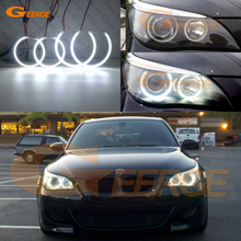 купить For BMW E60 E61 525I 530I 545I 550I M5 Xenon Headlight 2003-2007 Excellent Ultra bright illumination smd led angel eyes kit дешево