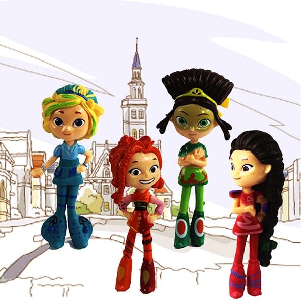 New 4pcs 10cm Russian cartoon Fairy patrols action figure doll opp plastic bag cartoon kids PVC gift model toy