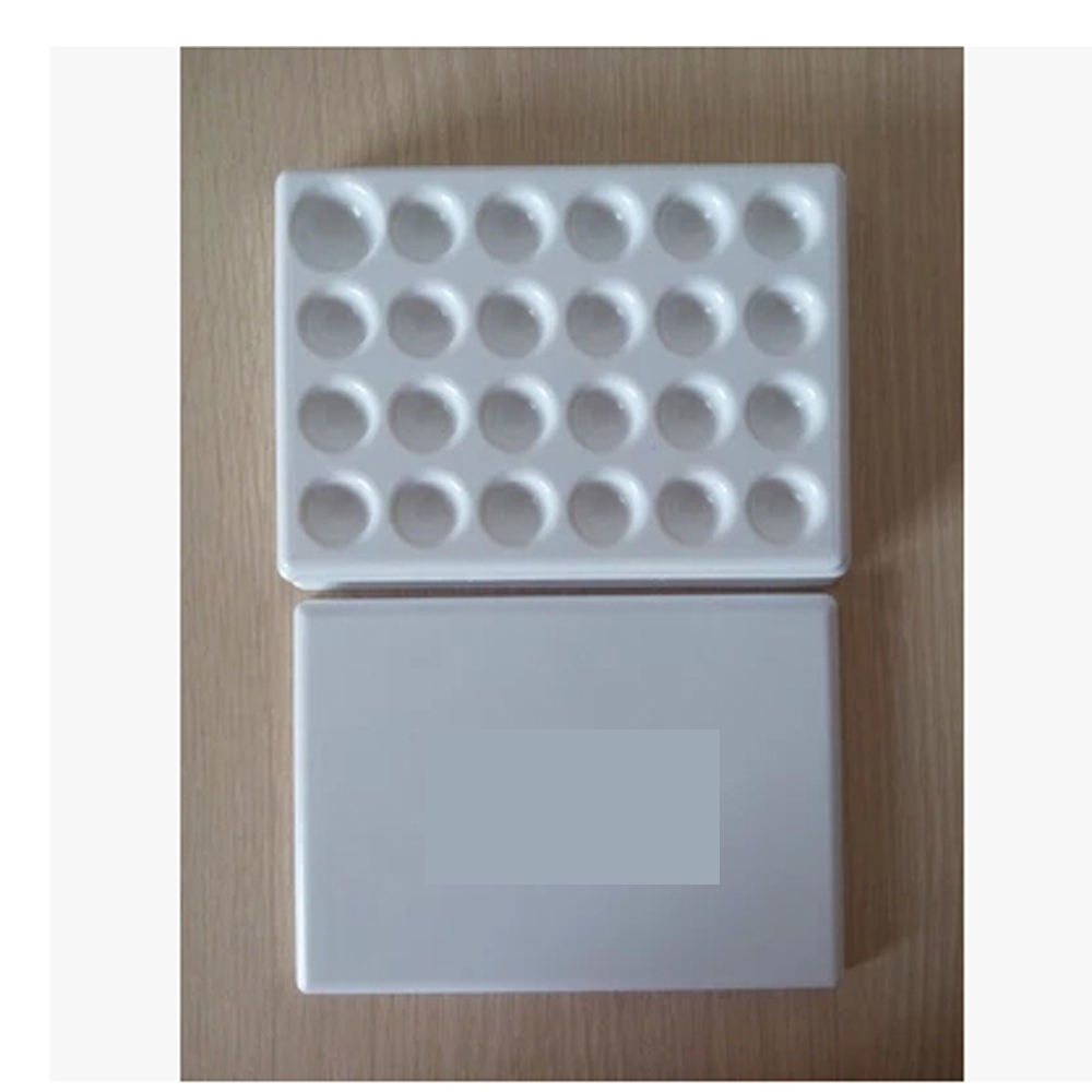 цена на 1PC Dental Lab Mixing Watering Plate Wet Tray 24 pits plastic plate with plastic cover for glazing work in dental lab