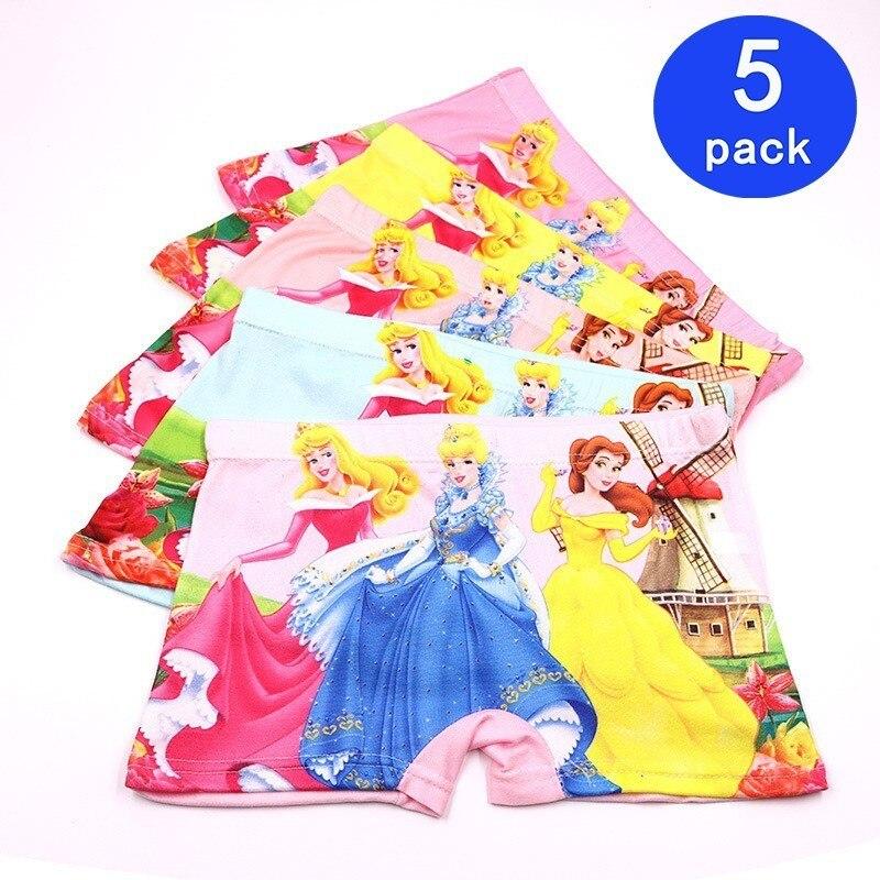 5pcs/Lot Cute Children Kids Girls Underwear Fashion Boxer Brief Infant Baby Girl Panties Fashion Children Underpants For 2-7Y