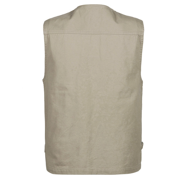 Grandwish 100% Cotton Multi Pocket Vest Men Summer 2018 New Male Sleeveless Jacket Mens Photographer Baggy Waistcoat ,DA746
