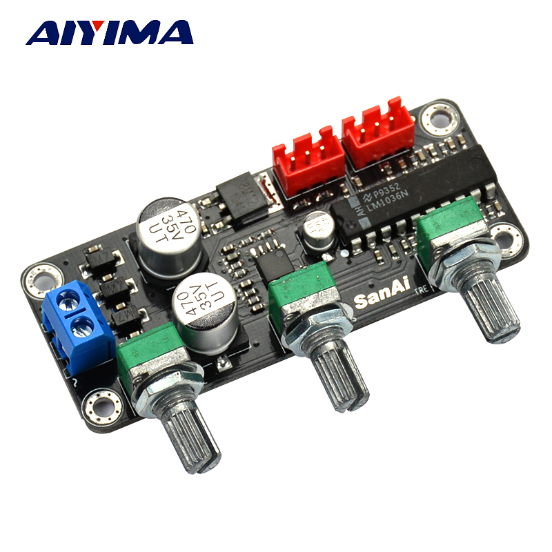 Aiyima LM1036N Tone Preamplifier Volume Control Stereo Board Amplifier Board With 4580 Low noise amplifier lcd32b66 l frequency board amplifier board 40 l2726a nid2x