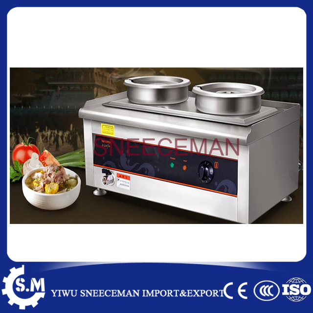 stainless steel warm keeping soup stove machine electric 14l 2pot heat stove chinese furnace for