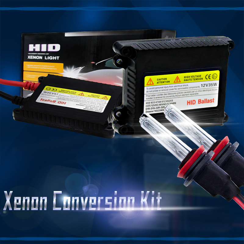 Hid Xenon Kit Slim Ballast 35W Xenon Bulb Dc 12V 8000K Hid Driving Light In Car H8/ H9/ H11 Xenon Car Headlight Easy To Replace universal slim replacement 35w car hid ballast dc 9 16v