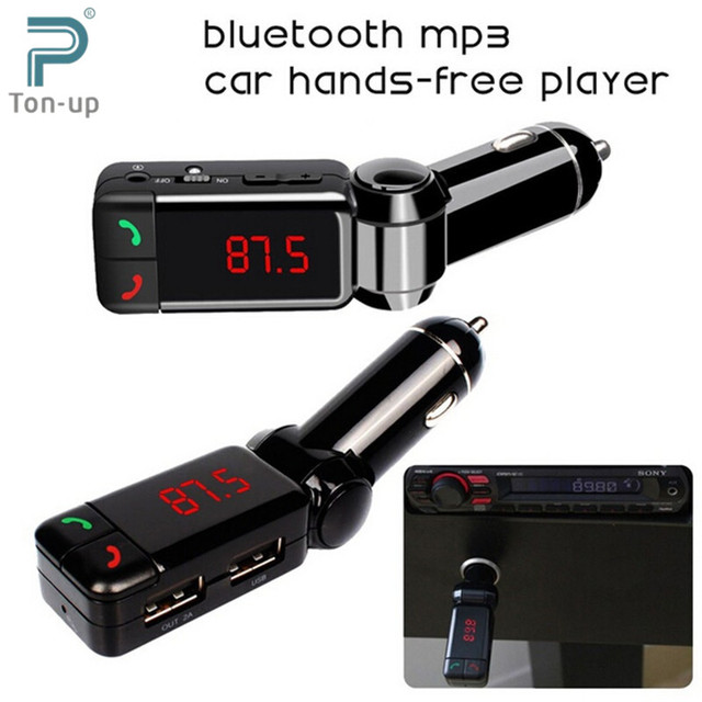 Car MP3 Audio Player Bluetooth FM Transmitter Wireless FM Modulator Car Kit HandsFree LCD Display USB Charger for iPhone Samsung