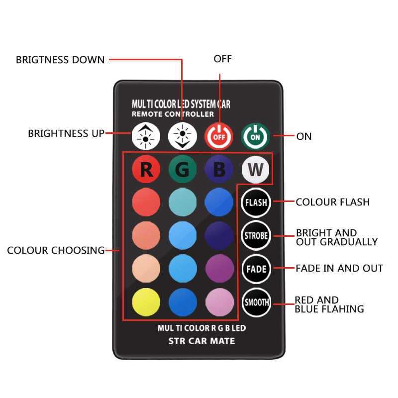 車 RGB LED 12 ボルト T10 LED RGB 5050 SMD 信号ランプ読書ウェッジライト車のインテリア装飾ライトオートリモコン