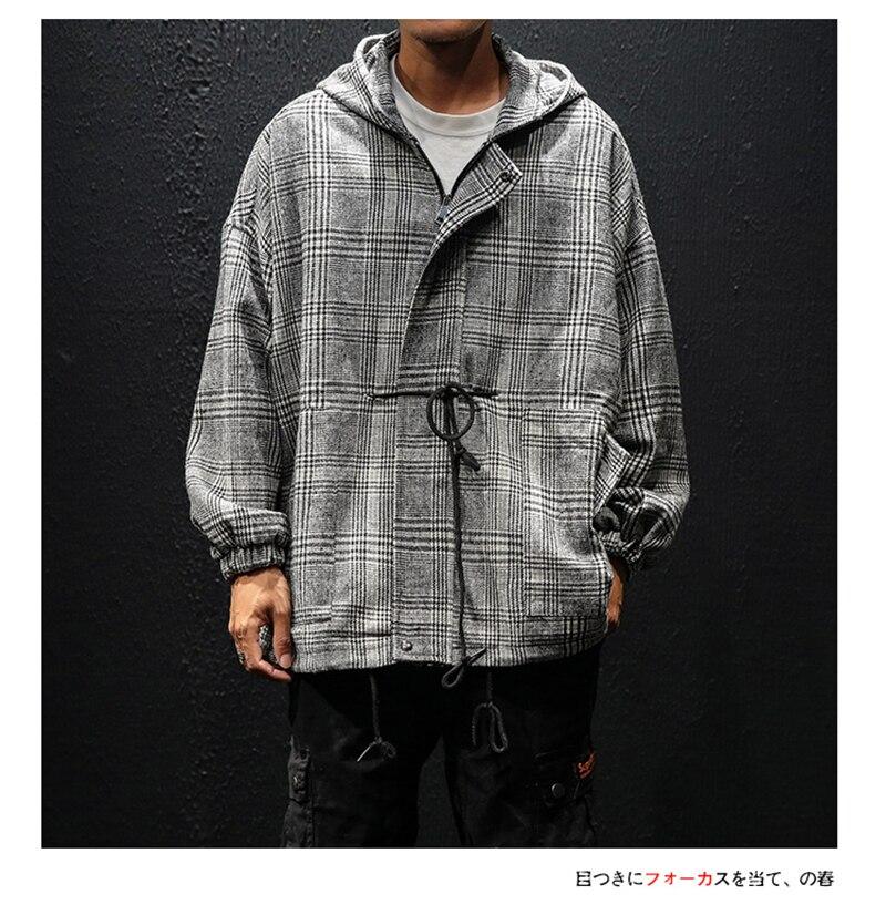 Korean Trench Coat Men Overcoat Hood Slim Fit (9)