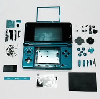 Free Shipping Shell Blue Color Full Housing Case Cover Replacement Set For Nintendo 3ds Full Housing