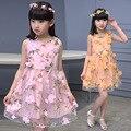 Broken beautiful costumes female children's princess dress veil girl sundress children dress in summer