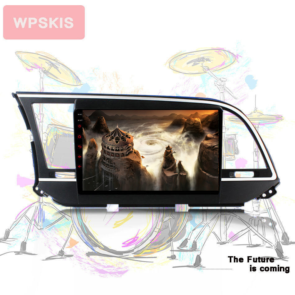 9inch in dash car video audio a/v multimedia headunit <font><b>gps</b></font> navi monitor Android 10.0 for <font><b>HYUNDAI</b></font> <font><b>ELANTRA</b></font> 2017 2018 dab mirror swc image