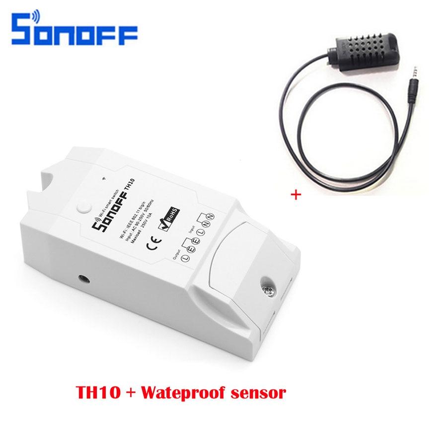 Sonoff TH10 T16 Intelligent WiFi Commutateur BRICOLAGE Maison Intelligente Sans Fil Contrôleur Température Et Humidité Thermostat Module Pour IOS Android