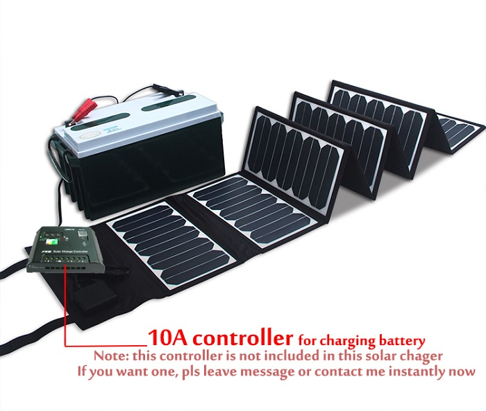 NEW 60W 5V 18V Folding Solar Panel Charger For Mobile Phones Power Bank Laptops 12V Battery