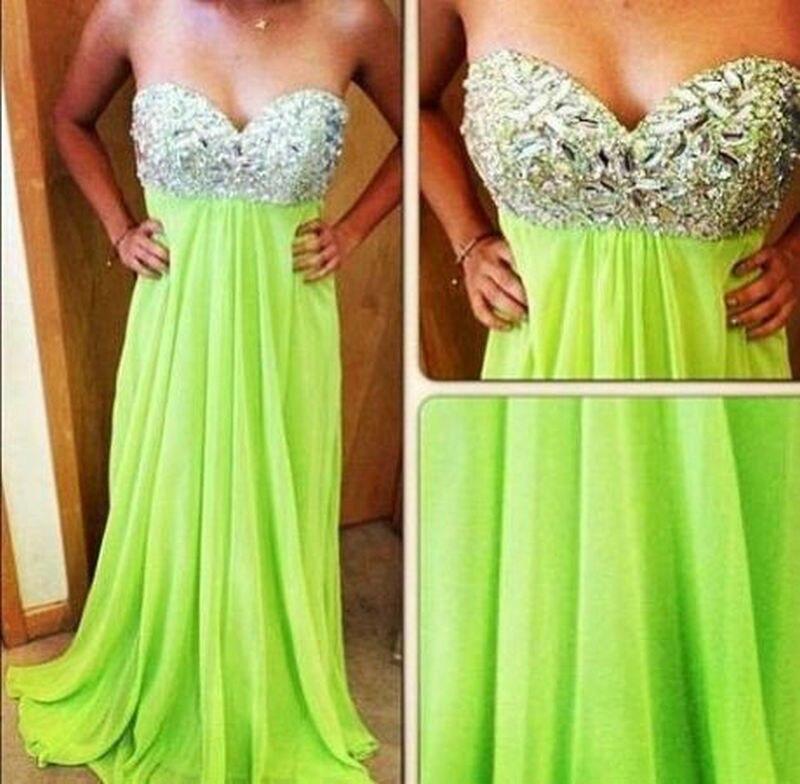 Vestido verde limon