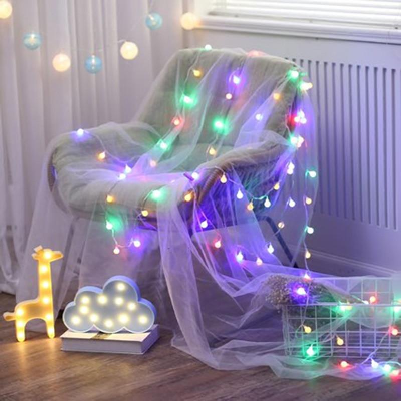 Ball światła na zewnątrz 10M 100 LEDS Fairy Christmas Lights 220V - Oświetlenie wakacje - Zdjęcie 3