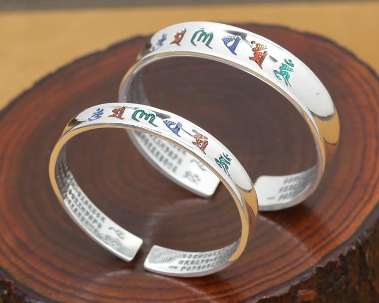 B0089-Tibetan-Pure-Silver-OM-Mantra-Bracelet-4
