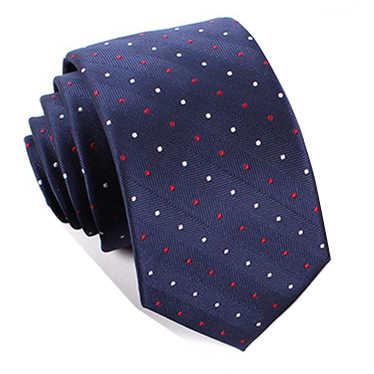 2016 nouveau rouge blanc dot cravates bleu marine 6 cm cravate et cravate en soie avec pochette