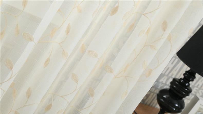 Gordijnen In Slaapkamer : ②europese witte geborduurde voile gordijnen slaapkamer vitrage