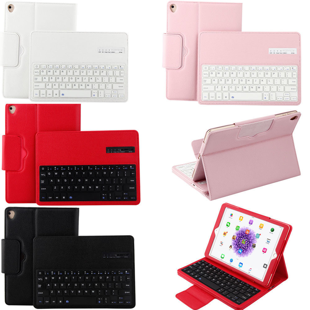 For Apple iPad 9.7 2017 2018 Keyboard Case, Flip PU Leather Bluetotoh Keyboard Case for iPad Air 1 2 Stand Case with Keyboard kinston i love you patterned pu leather full body case w stand for motorola moto g black red