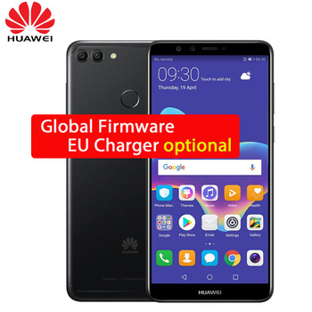 Global Rom Huawei Y9 2018 Enjoy 8 Plus 4GB 64GB Octa core 5.93 inch 2160*1080P 4 Cameras 4000mAh Fingerprint ID Face ID 3 Slot