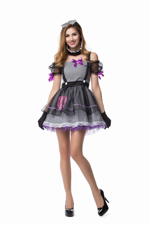 circus clown barbie voodoo doll fancy dress costume halloween