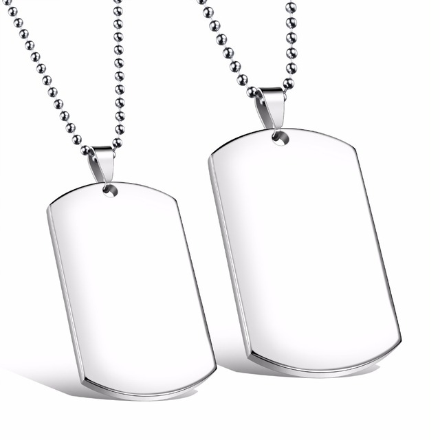 Custom engarved high polished stainless steel silver blank dog tag custom engarved high polished stainless steel silver blank dog tag pendants no chain aloadofball Image collections