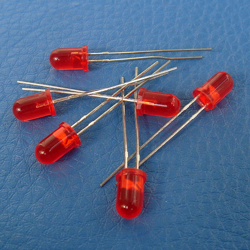 ( 50 Pcs/lot ) Diameter 5mm Normal Brightness Round Red LED.