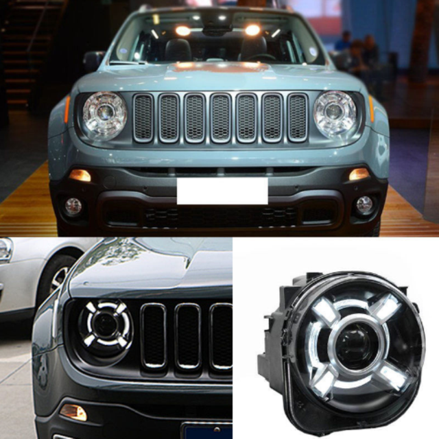1 Pair For 2017 Jeep Renegade Hid Headlights With Drl And Bi Xenon