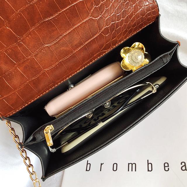 Crocodile Pattern Crossbody Bags For Women 2019 Small Chain Handbag small bag PU Leather Hand Bag Ladies Designer Shoulder Bags