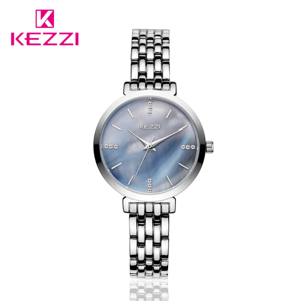 KEZZI Stainless Steel Women's Watches Colour Shell Surface Rhinestone Ladies Dress Watch Top Brand Quartz Wristwatches Kol Saati modern simple crystal chandelier light creative personality crysta chandelier lamps chandeliers lighting living room bedroom