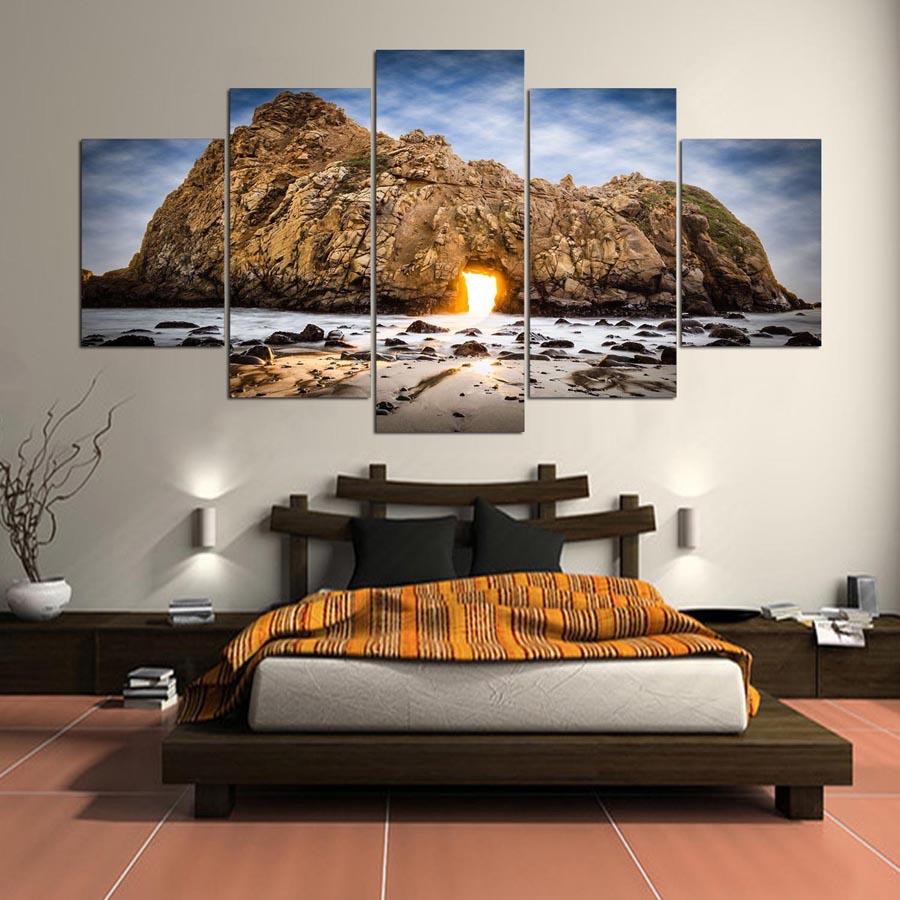 Kumsal duvar boyas rengi ile modern ve k ev dekorasyonu - Seascape Tepesi I In Duvar Sanat Boyama Resimleri Resim Bask Ev Modern Dekorasyon I In Id 687