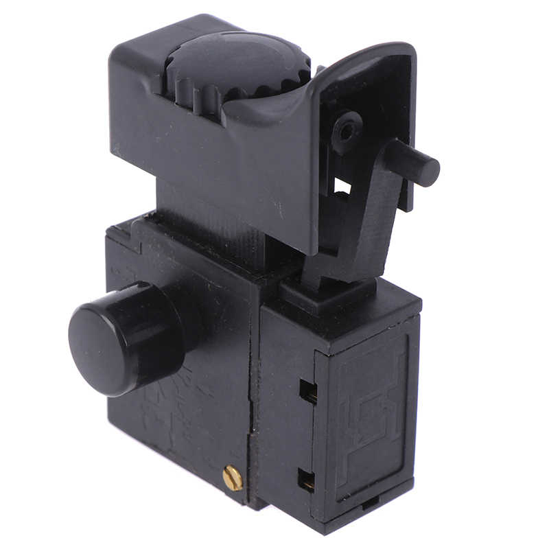 1Pcs FA2-6/1BEK Lock on Power Tool Electric Drill Speed Control Trigger Button Switch