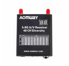 Новинка 2017 года aomway 5.8 Г 48ch AV аудио/видео двойной приемник DVR Регистраторы w/кабель для FPV-системы Quadcopter Дрон