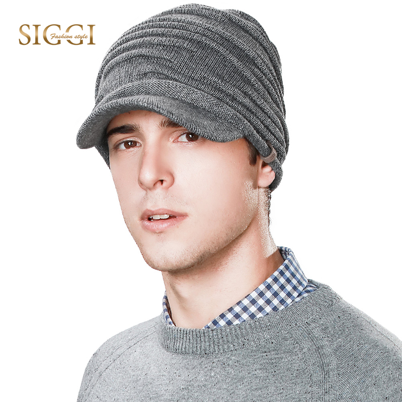 FANCET Men Winter Warm   Skullies     Beanies   Unisex Patchwork Wool Viscose Peaked Ear Flap Knitted Hats Casual Brim 2019 Caps 89242