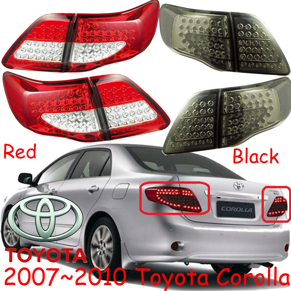 car-styling,Corolla Taillight,2007~2010,led,Free ship!4pcs,Corolla fog light;car-covers,Corolla tail lamp; Corolla car styling golf6 taillight 2011 2013 led free ship 4pcs golf6 fog light car covers golf7 tail lamp touareg gol golf 6