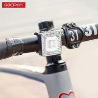 Gaciron 80lm 스마트 경고 자전거 라이트 충전식 스포트 라이트/투광 조명 자전거 안전 라이딩 미등 전면 램프 방수