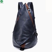 """Einzigartiges design leder mann rucksäcke hohe qualität männer reisetaschen vintage 13 """"männer schulter mode mochila schultasche"""