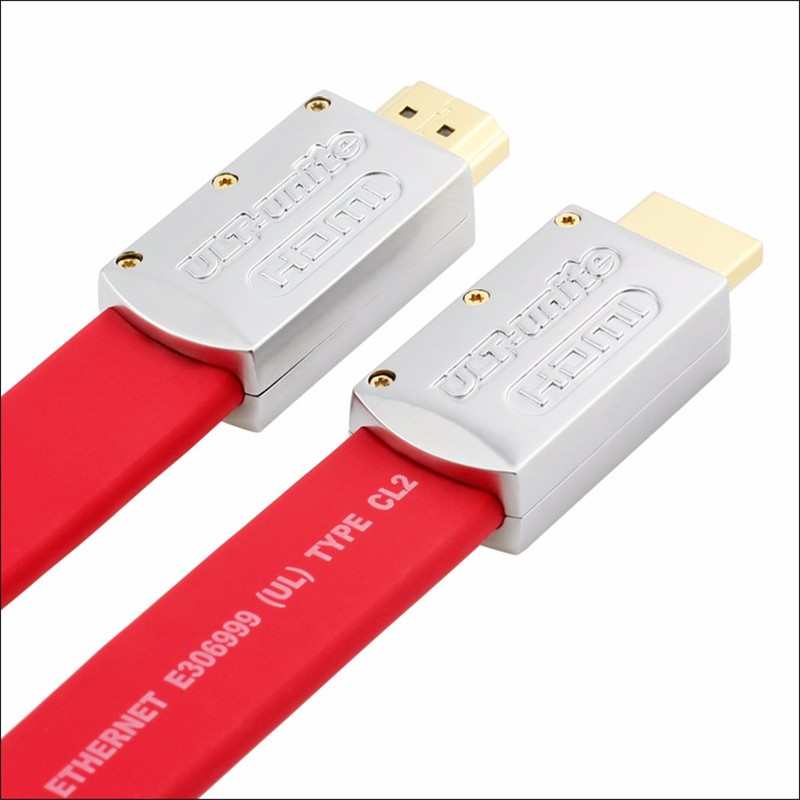 Hdmi 2.0 Cable 3D 4K Full HD 1080P 20.4Gbps High Speed Gold Plated Flat Hdmi Cable 1m 1.5m 2m 3m 5m 10m 15m 20m With packing box gold plated nylon braided hdmi cable hdmi 2 0 4k x 2k ethernet support video 4k 2160p hd 1080p 3d 1 5m 3m 5m 10m 15m 20m