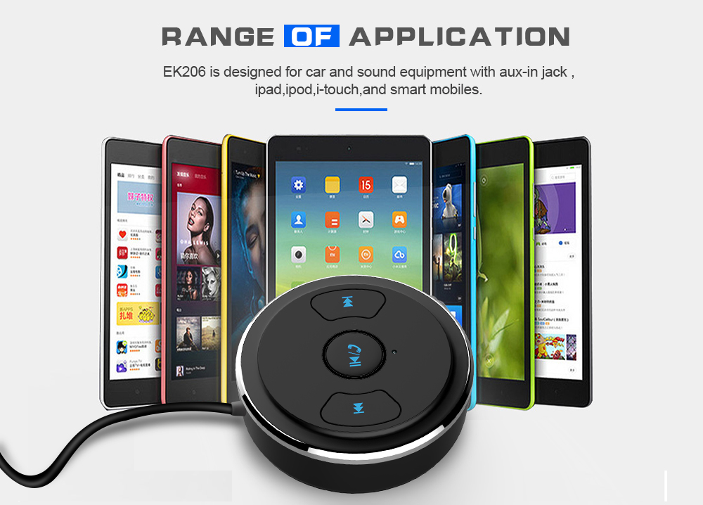 FDOMAIN auto 3.5mm jack AUX bluetooth adapter hands free car kit audio receiver support siri and other mobile voice assistant 15