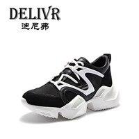 Delivr/Новинка 2019 года, весенние кроссовки, повседневные кроссовки, женские кроссовки на толстой подошве, обувь для папы, женская обувь на толс