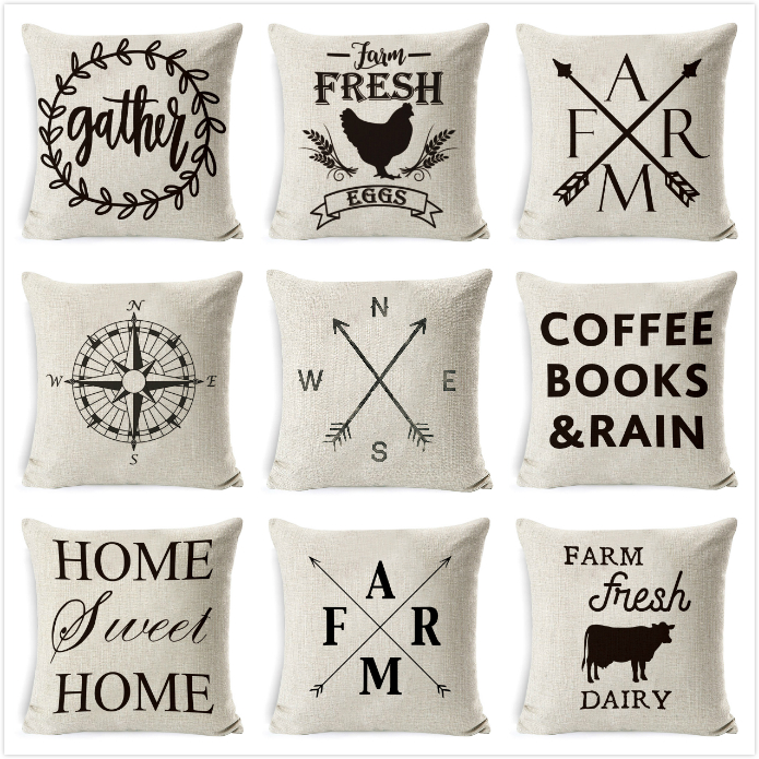 Cushion Cover Thanks For Be My Sister Cotton Linen Square Throw Waist Pillow Case Decora Sofa Home Pillowcase 45*45cm