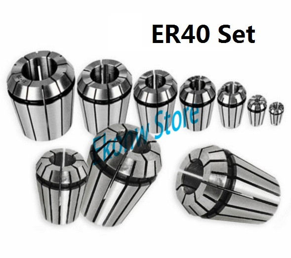 23pcs/set ER40 Chuck Collet Precision Spring Chuck Collet Set 3-25mm For CNC Milling Lathe Tool Engraving Machine useful 15pcs set 2mm 16mm er25 precision spring collet for lathe chuck for cnc milling engraving machine best price