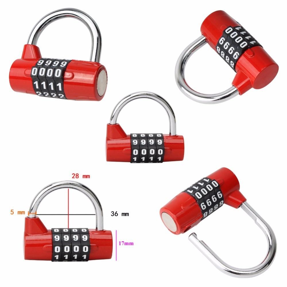 4 цифры сочетание практической дорожная сумка для багажа чемодан безопасности замок пароля замки 2017