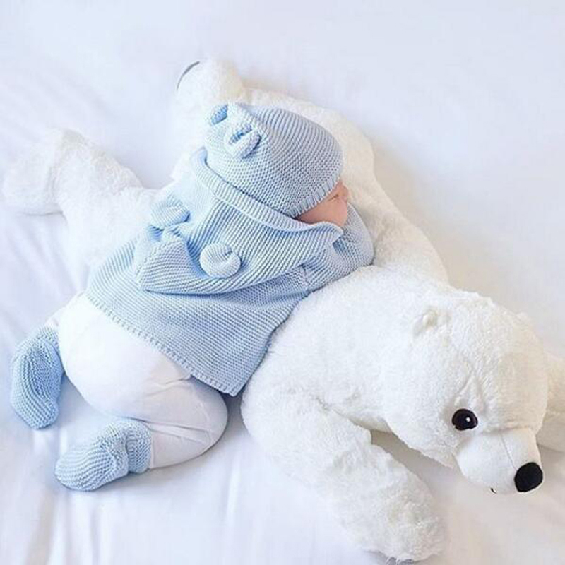 Newborn Baby Polar Bear Kawaii Plush Pillow