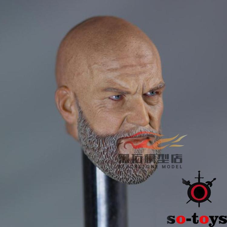 SO-TOYS: SO-02 1/6 Will Head Iron Mango Head Sculpture Model