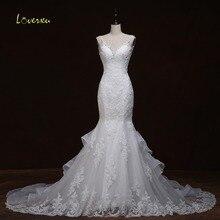 Loverxu Robe De Mariage Beading Mermaid Wedding Dress