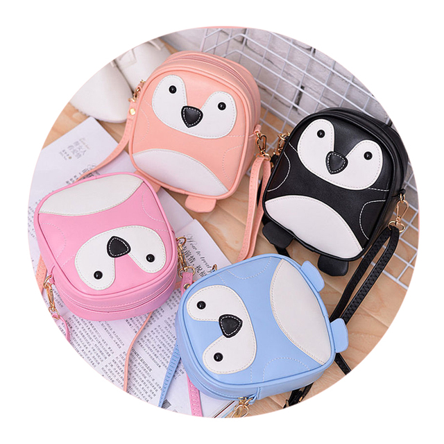 QZH Cartoon Women Cute Shoulder Bags Mini Kids Girls cross body bags  Leather Messenger Bags For Kindergarten Baby Schoolbags 4ef056fc4d6fa