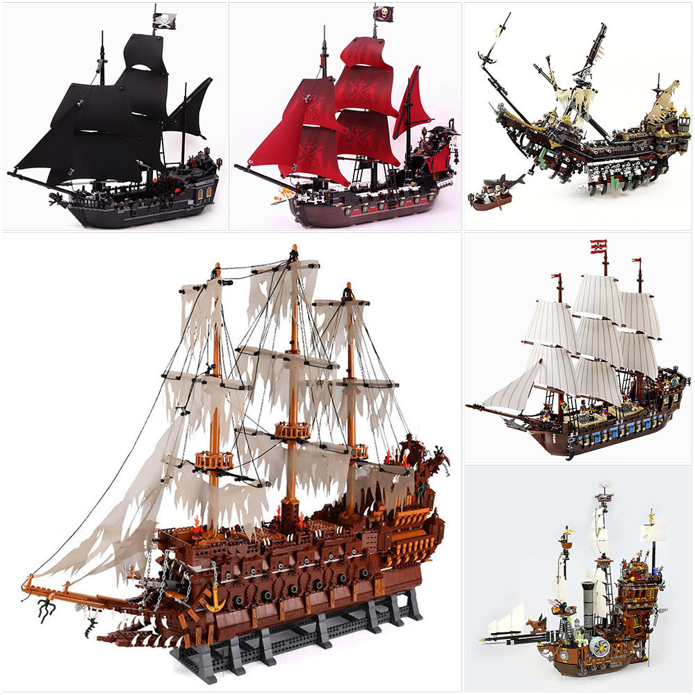 Lepin bricks pirates of the caribbean Silent Mary/Queen Anne's Revenge/Black Pearl/Imperial Flagship/Flying Netherlands blocks queen s day the netherlands gifts